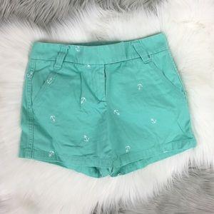 J. Crew mint green anchor chino shorts 4